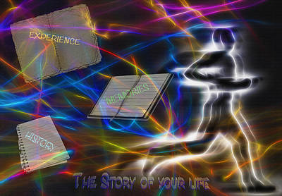 The Story Of Your Life - Conceptual Art Art Print by Steve Ohlsen
