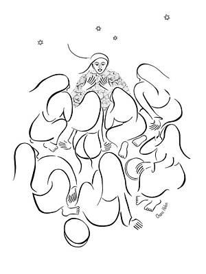 The Story Teller Art Print by Chana Helen Rosenberg