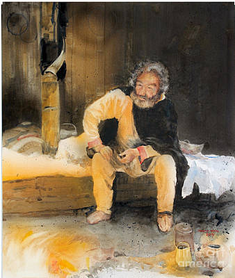 Painting - The Story Teller by Monte Toon
