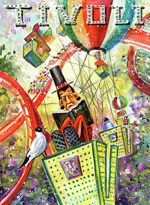 Painting - The Storysteller Of Tivoli Gardens by Miki De Goodaboom