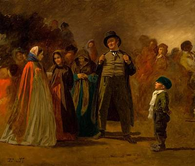 Storytellers Wall Art - Painting - The Storyteller Of The Camp by Eastman Johnson