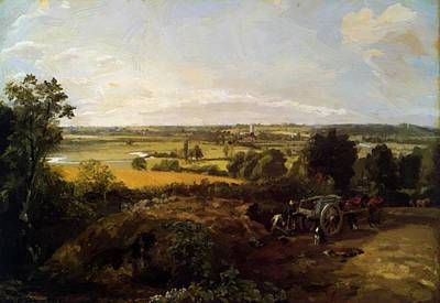 Painting - The Stour Valley With The Church Of Dedham 1814 by Constable John