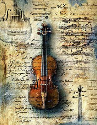 Digital Art - The Stradivarious by Gary Bodnar