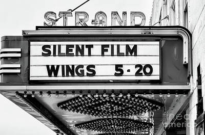 Photograph - The Strand Marquee - Bw by Kathleen K Parker