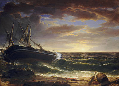 Painting - The Stranded Ship by Asher Brown Durand