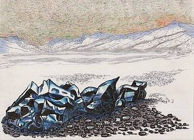 Mixed Media - The Strange Case Of The Vanishing Blue Ice by Al Goldfarb