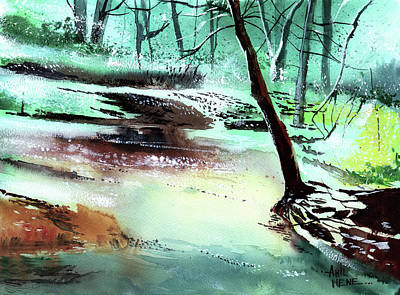 Painting - The Stream by Anil Nene