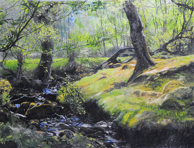 Painting - The Stream At The Farm by Harry Robertson