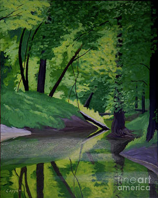Painting - The Stream by Robert Coppen