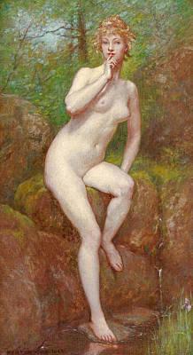 Kenyon Painting - The Stream's Secret by Kenyon Cox