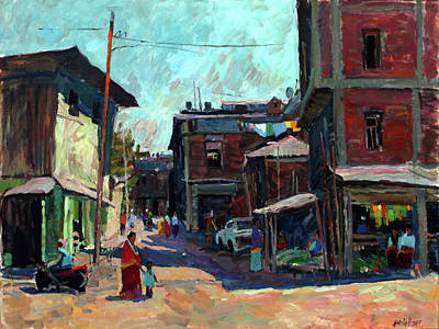 Painting - The Street Of Imphal by Juliya Zhukova