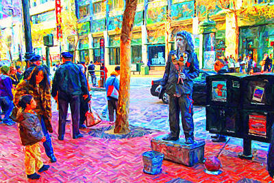 The Street Performer . Photo Artwork Art Print by Wingsdomain Art and Photography