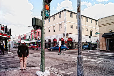 Traffic Light Digital Art - The Streets Are Safe In Nassau by Susan Stone