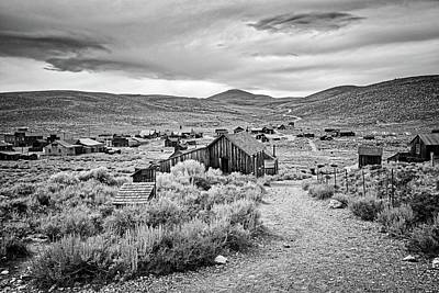 Photograph - The Streets Of Bodie In Black And White by Lynn Bauer