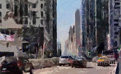 Painting - The Streets Of Chicago by Sergey Lukashin