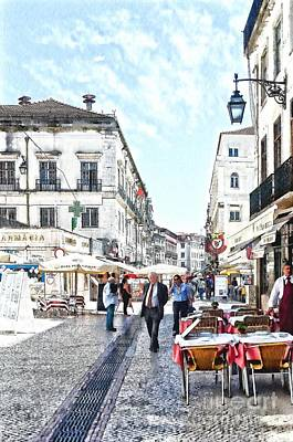 Digital Art - The Streets Of Old Lisbon by Mary Machare