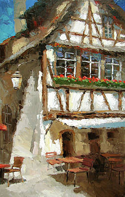Painting - The Streets Of Strasbourg by Dmitry Spiros