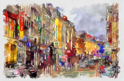Drawing - The Streets Of The City Of Lille by Sergey Lukashin