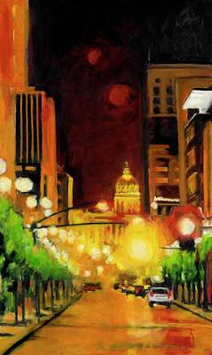 Painting - The Streets Run With Crimson And Gold by Robert Reeves