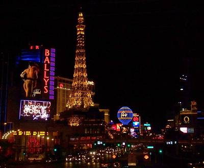 Photograph - The Strip At Night 1 by Anita Burgermeister