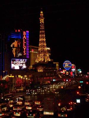 Photograph - The Strip At Night 2 by Anita Burgermeister