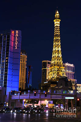 Photograph - The Strip At Night by John Rizzuto