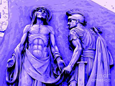 Digital Art - The Stripping Of Christ by Ed Weidman
