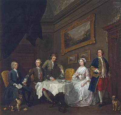 The Strode Family Art Print by William Hogarth