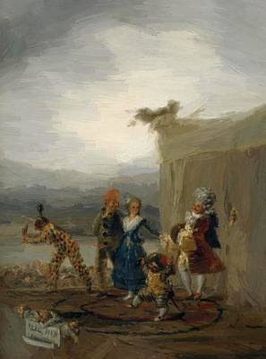 Painting - The Strolling Players 1793 by Goya Francisco