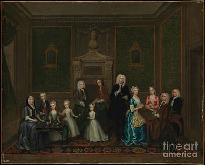 London Painting - The Strong Family by Celestial Images