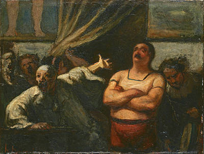 Painting - The Strong Man by Honore Daumier