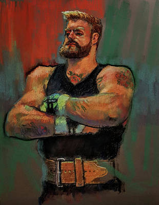 Painting - The Strongman by Nora Sallows