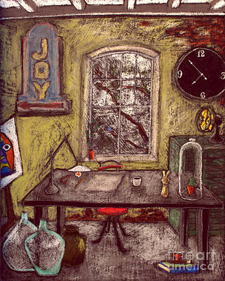 Modern Art Painting - The Studio by David Hinds
