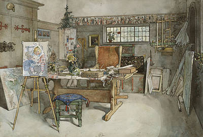 Painting - The Studio. From A Home by Carl Larsson