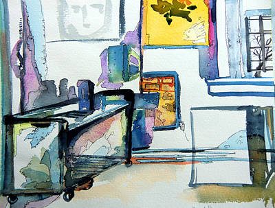 The Studio Of The Artist Art Print by Mindy Newman