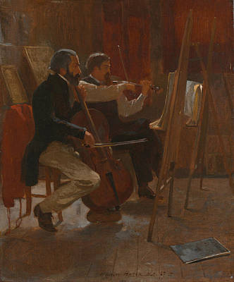 Painting - The Studio by Winslow Homer
