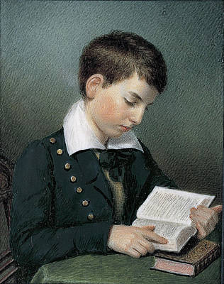 The Studious Youth. Master Edward Appleton Art Print by Sarah Goodridge