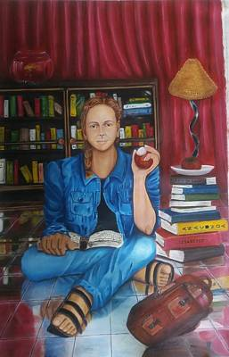 Book Jacket Painting - The Study by Bharati BV
