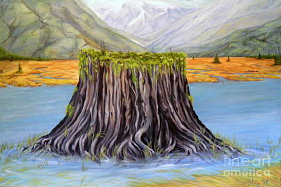 Painting - The Stump by Ida Eriksen