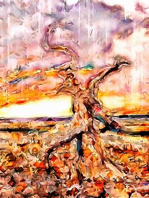 Digital Art - The Stunted Tree by Mario Carini