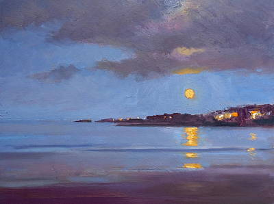 Painting - The Sturgeon Moon by Dianne Panarelli Miller