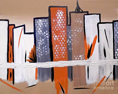 Terra Painting - The Subdued City I by Jilian Cramb - AMothersFineArt