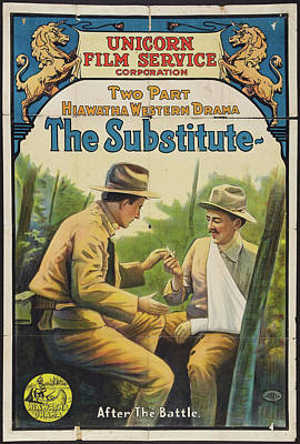 1916 Drawing - The Substitute 1916 by Mountain Dreams