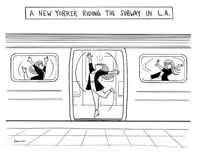 Drawing - The Subway In La by Sharon Levy