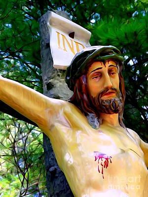 Digital Art - The Suffering Of Christ by Ed Weidman