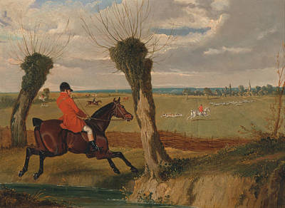 Crying Painting - The Suffolk Hunt Full Cry by John Frederick Herring