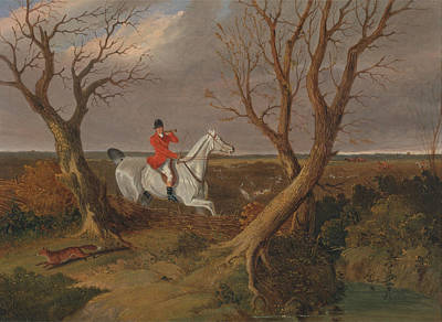 Go Away Painting - The Suffolk Hunt Gone Away by John Frederick Herring
