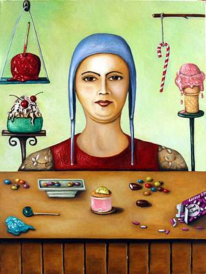 Candy Painting - The Sugar Addict by Leah Saulnier The Painting Maniac