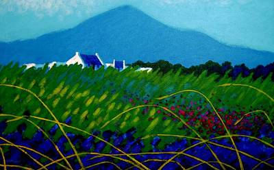Loaves Painting - The Sugar Loaf County Wicklow Ireland by John  Nolan