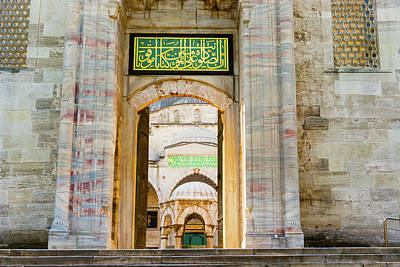 Photograph - The Sultan Ahmed Mosque Is A Historic Mosque In Istanbul, Turkey by Marek Poplawski
